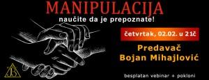 Vebinar: MANIPULACIJA - naučite da je prepoznate @ Online seminar