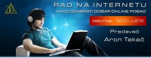 Vebinar: Rad na internetu @ Online seminar
