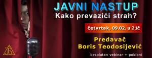 Vebinar: Javni nastup  - savladajte svoj strah @ Online seminar