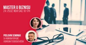 Master u biznisu - dvodnevni poslovni seminar @ Klub Biznis na štiklama
