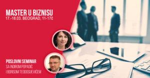 Master u biznisu - dvodnevni poslovni seminar, Beograd @ Hotel Prag - sala Libuša