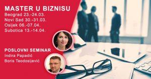Master u biznisu - dvodnevni poslovni seminar (4 grada) @ Prvi vikend - Hotel Prag