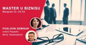 Master u biznisu - dvodnevni poslovni seminar Beograd @ Prvi vikend - Hotel Prag