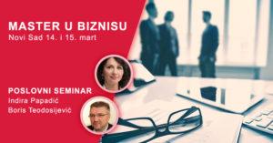 Master u biznisu - dvodnevni poslovni seminar (Novi Sad) @ Hotel Veliki 3*